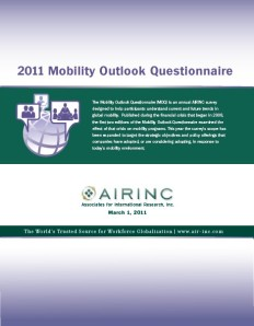 2011 Mobility Outlook Questionnaire